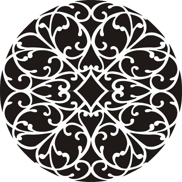 Stencil amour mandala wall stencil painting stencil rug - Mandala amour ...