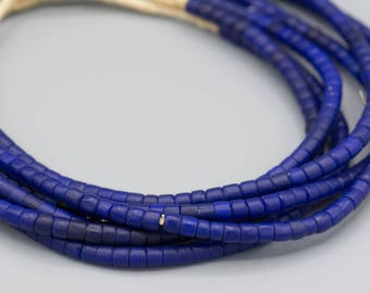 African Old Maasai Beads  5mm Cobalt Glass  African Trade Beads Boho Tribal Ethnic Jewelry Making Supplies