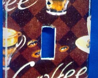 Coffee Single Light Switchplate