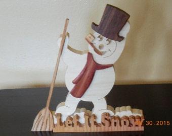 Snowman decor, Snowman made of wood,Christmas decor,holiday decor