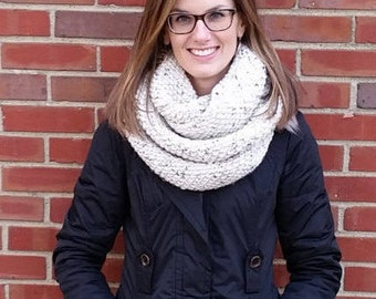 Hand Knit Infinity Scarf | Oversized Knit Scarf | Loop Scarf | Chunky Infinity Scarf || THE EMERSON