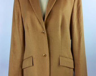 Vintage 90's 00's camel two button blazer jacket