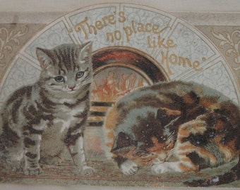There's No Place Like Home, Tuck & Sons, Vintage Victorian Lithographs