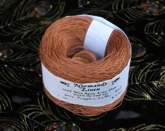 40/2 Pumpkin Latte Normandy Linen Thread