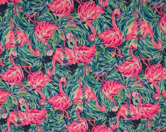 Cotton poplin fabric squares and pieces 6 X 6, 9 X 18  or 18 X 18 inches  Multi Flamenco Beach pieces   ~Lilly Pulitzer~ Spring 2017