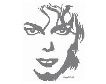 Michael Jackson cross stitch pattern, PDF Instant download.