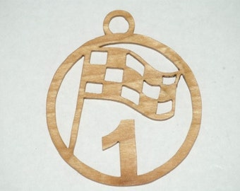 Jamie McMurray - Handmade wooden ornament or window hanger