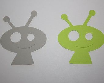 18 x Alien Die Cut Gift Tags Choose your own Colors!