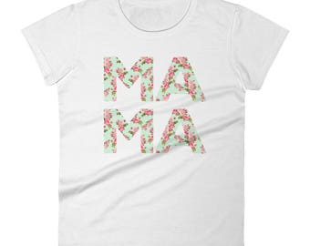 Floral MAMA Short Sleeve Tee