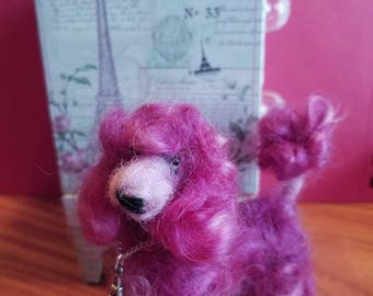 Custom Needle Felted Curly Colored Poodle...