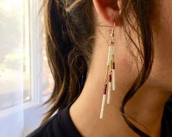 Garnet and Gold Earrings