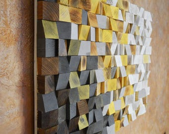 Wood Wall Art   Winter Is Coming, Reclaimed Wood Art, 3 D Wall Art Decor,  Wood Mosaic, Wood Sculpture, Abstract Painting, Geometric Wall Art