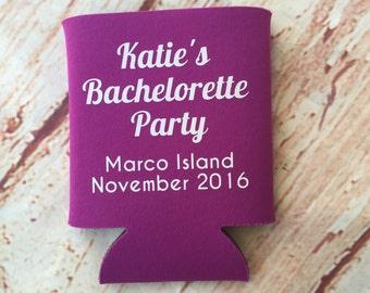 Bachelorette Party Favors - Bachelorette Party - Bachelorette Can Coolers - Wedding Favors - Personalized Bridesmaid Gift