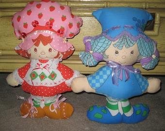 Vintage Strawberry Shortcake Custom Pillow Dolls