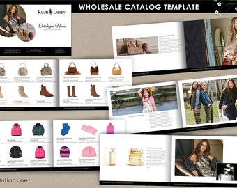 wholesale catalog template, mini product brochure, retail minimalist wholesale sheet, jewellery catalog template, product showcase booklet