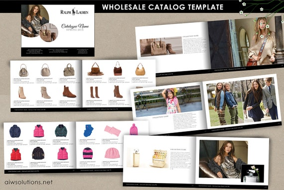 wholesale catalog template mini product brochure retail