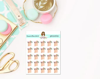 Grocery planner stickers