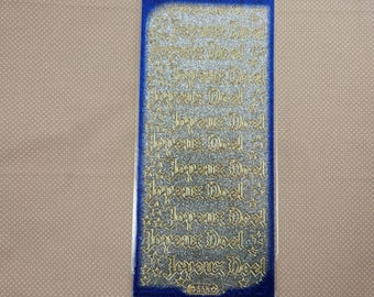 "Sheet of stickers, glitter ""Merry Christmas"""