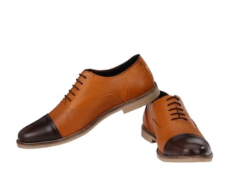 Mens Formal Oxford Two Tone Lace Up | Jacksin Shoes