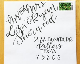 Wedding Calligraphy - Custom Hand Drawn Lettering and Styles: Sassafras