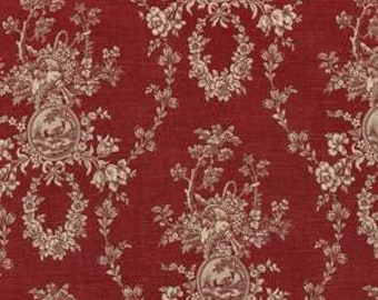 """Drapery Panel in Waverly Country House Toile Red,  84"""" or 96"""" length"""