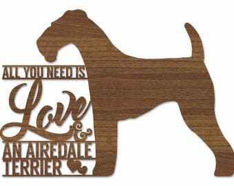 Airedale Terrier Plaque - Wooden Airedale Terrier Plaque - Airedale Terrier Plaque. Perfect for Airedale Terrier lovers. Airedale Terriers