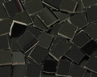 Mosaic Tiles Handcut China Black Charcoal Herringbone Pattern Broken China Tessarae
