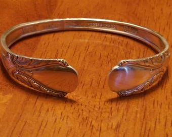 Sterling silver plate spoon bracelet (patterns may vary)