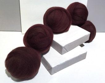 Brown wool Roving, wool top, Needle Felting wool, Spinning Fiber, warm  brown wool roving, brown felting wool