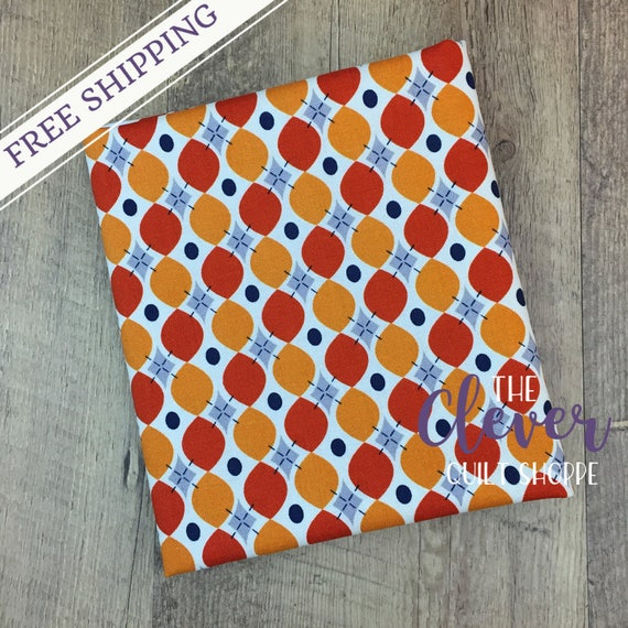 SALE! Quilting Fabric, Keep on Groovin', Wallpaper Orange, Sugar Sisters for Riley Blake Designs, Yardage