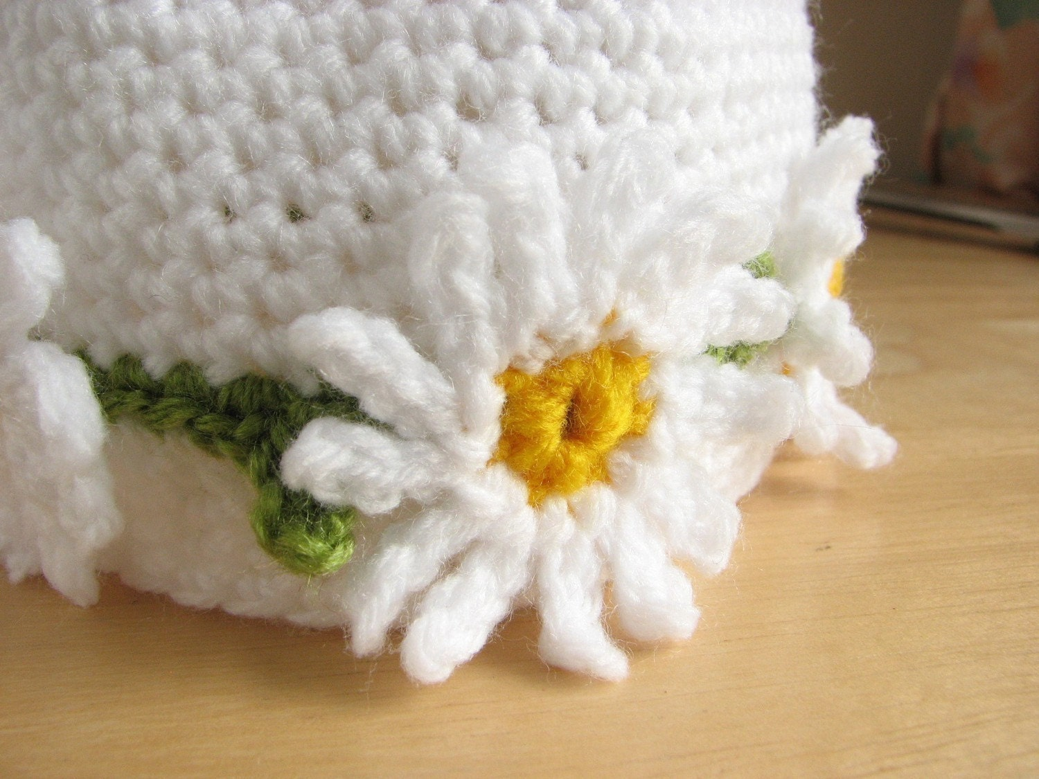 Crochet pattern for Daisy Chain hat in 4 sizes - INSTANT DOWNLOAD ...