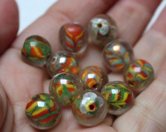 Vintage style marble beads.