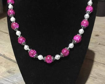 Gorgeous Handmade beaded/pearl necklace choice of colors