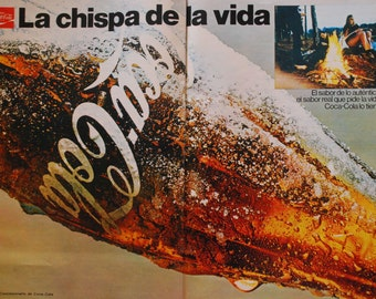 Vintage ads from 1960 - Coca Cola - Coke - Retro ads - Spain