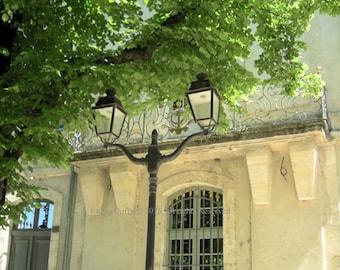 Original Photograph (Matted): Lamppost - Nimes, France