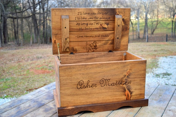 Wooden Toy Box Kids Toy Chest Wooden Chest Keepsake Box