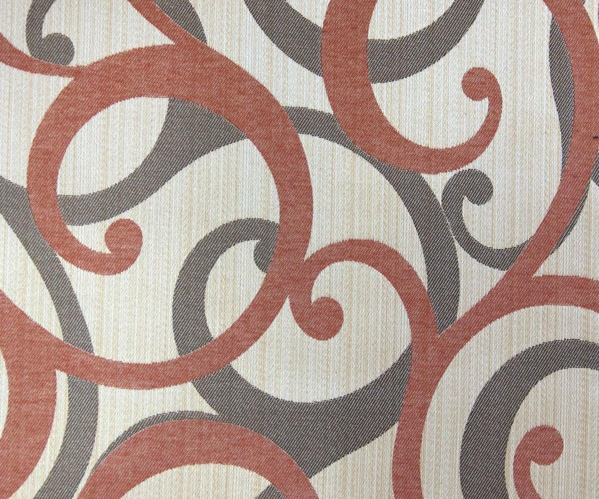 Rust Scrolls Fabric By Yard Rust Curtain Fabric Upholstery