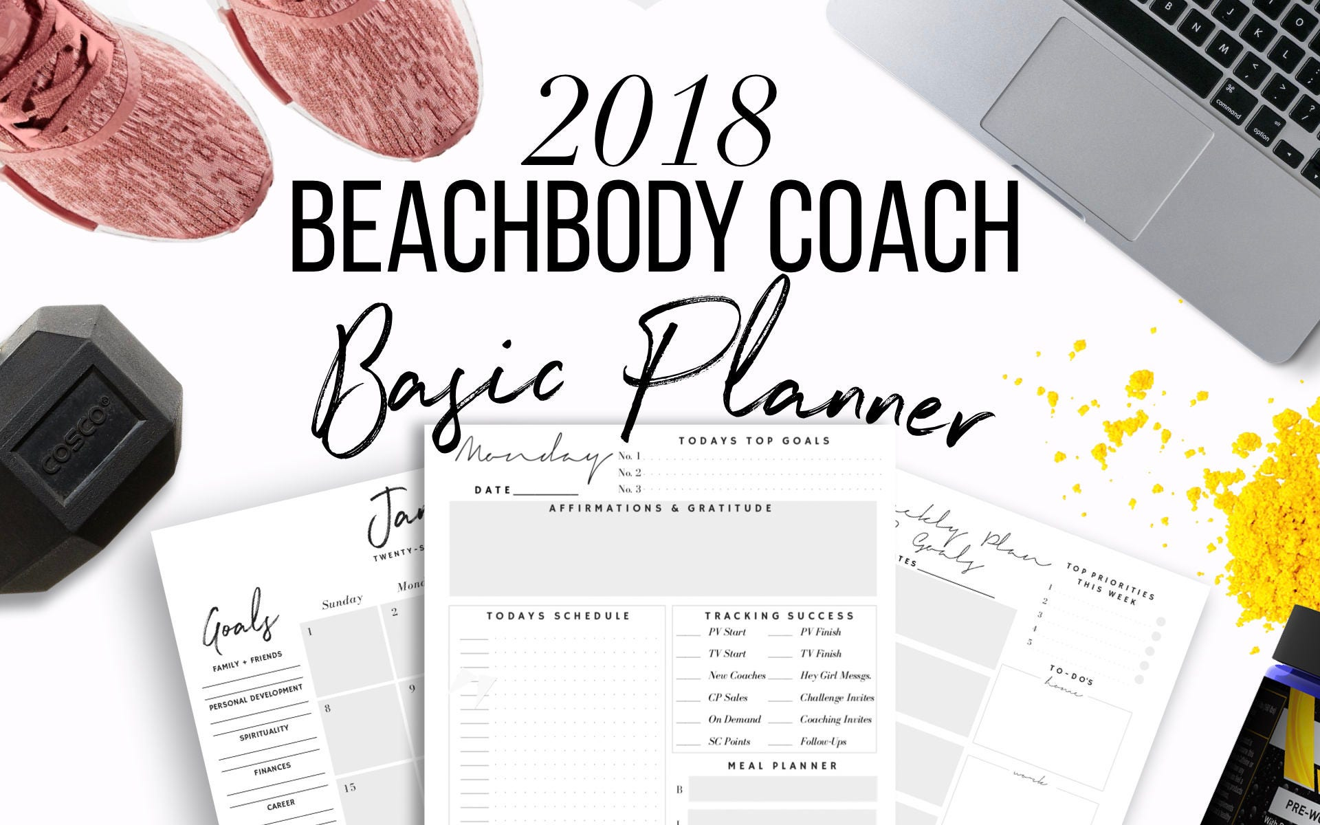 2018 Beachbody Coach Business Planner Printable 2017 US