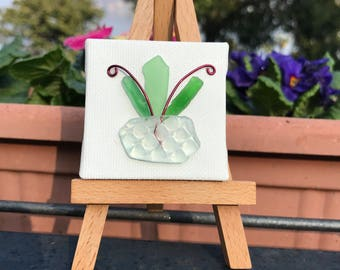 Potted plant canvas with easel #6A