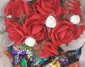 Hand tied Faux Flower Bouquet