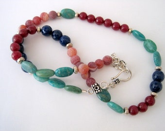 Gemstone Color Block Necklace