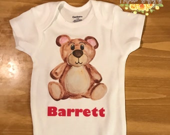 Baby boy bear onsie !