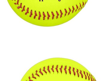 Unique Yellow Softball Gifts for Coaches Players and Fans. Personalized on the Front and Back.