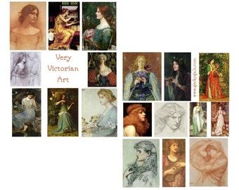 Very Victorian Art Digital Collage Set