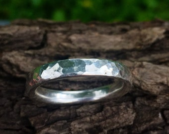 Hammered Sterling Silver Ring. Handmade Silver Ring.