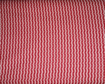 Marcus Gallery in Red Red and White Oval Chain Fabric R14-0270-0111 BTY