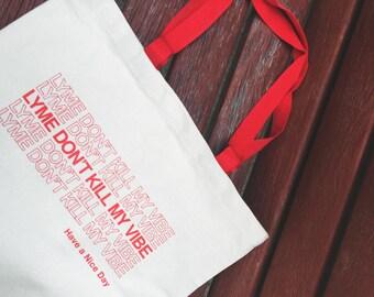 Lyme Disease Canvas Tote Bag [LAST ONE]