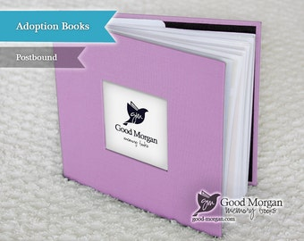 Adopted Baby Memory Book - Lilac