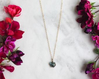 Rose Cut Sapphire Necklace