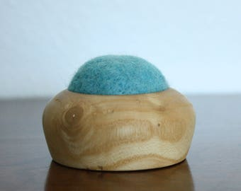 felted wool pincushion